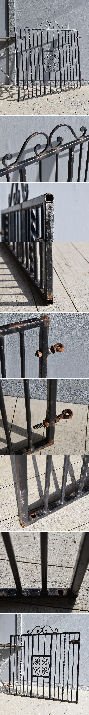 イギリス アンティーク アイアンフェンス ゲート柵 ガーデニング 7923