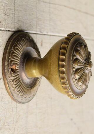 イギリス アンティーク 真鍮 ドアノブ 建具金物 握り玉 7933