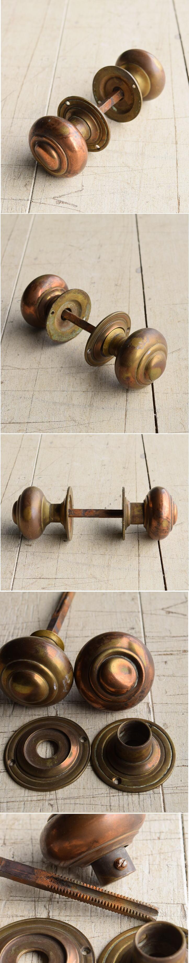 イギリス アンティーク 真鍮 ドアノブ 建具金物 握り玉 7934