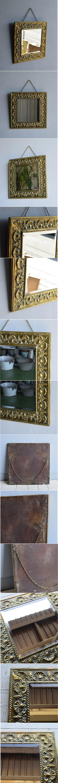イギリス アンティーク  壁掛け ミラー 鏡  7946