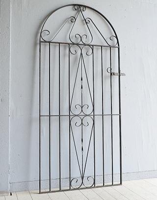 イギリス アンティーク アイアンフェンス ゲート柵 ガーデニング 7950