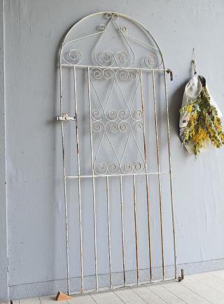イギリス アンティーク アイアンフェンス ゲート柵 ガーデニング 7951