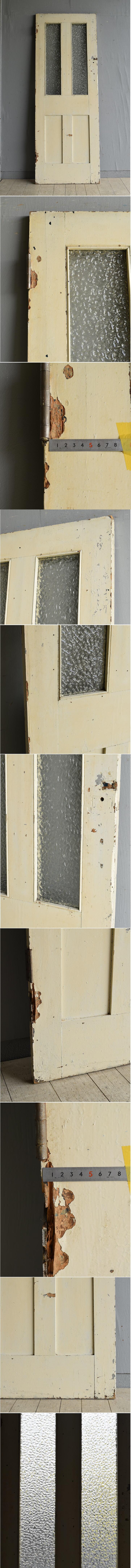 イギリス アンティーク ガラス ドア 扉 ディスプレイ 建具 7966