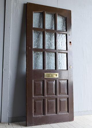 イギリス アンティーク ガラス ドア 扉 ディスプレイ 建具 7974