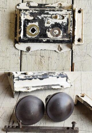 イギリス アンティーク ラッチ&ドアノブ 建具金物 7982