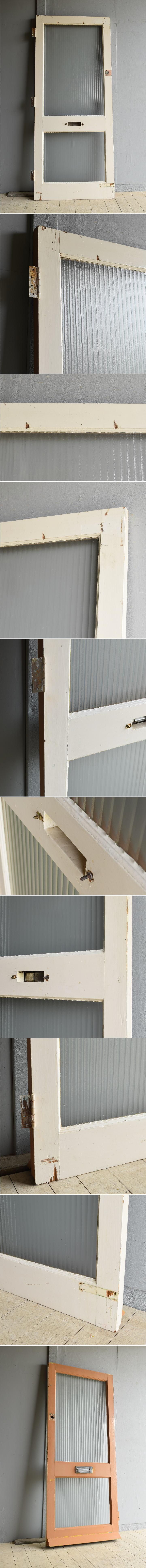 イギリス アンティーク ガラス ドア 扉 ディスプレイ 建具 7983