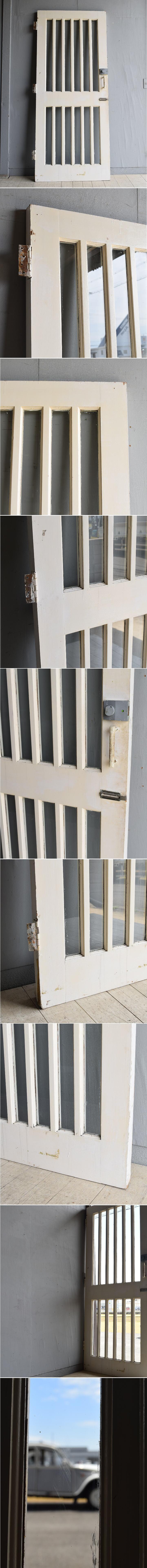 イギリス アンティーク ガラス ドア 扉 ディスプレイ 建具 7985