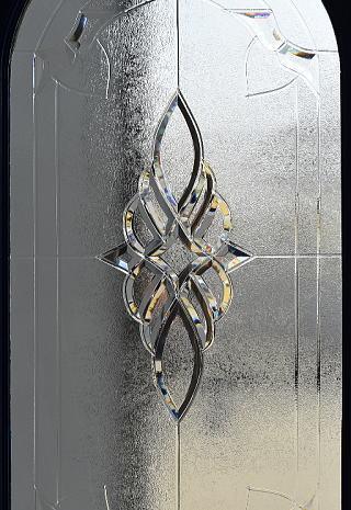 イギリス アンティーク ガラス ドア 扉 建具 7997