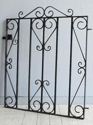 イギリス アンティーク アイアンフェンス ゲート柵 ガーデニング 8008