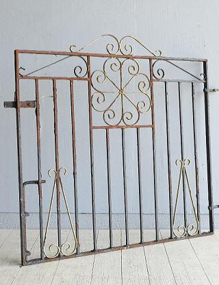 イギリス アンティーク アイアンフェンス ゲート柵 ガーデニング 8009