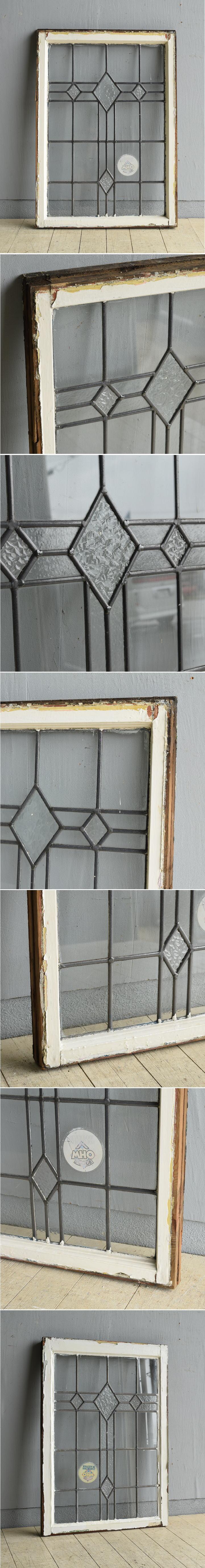 イギリス アンティーク 窓 無色透明 8013