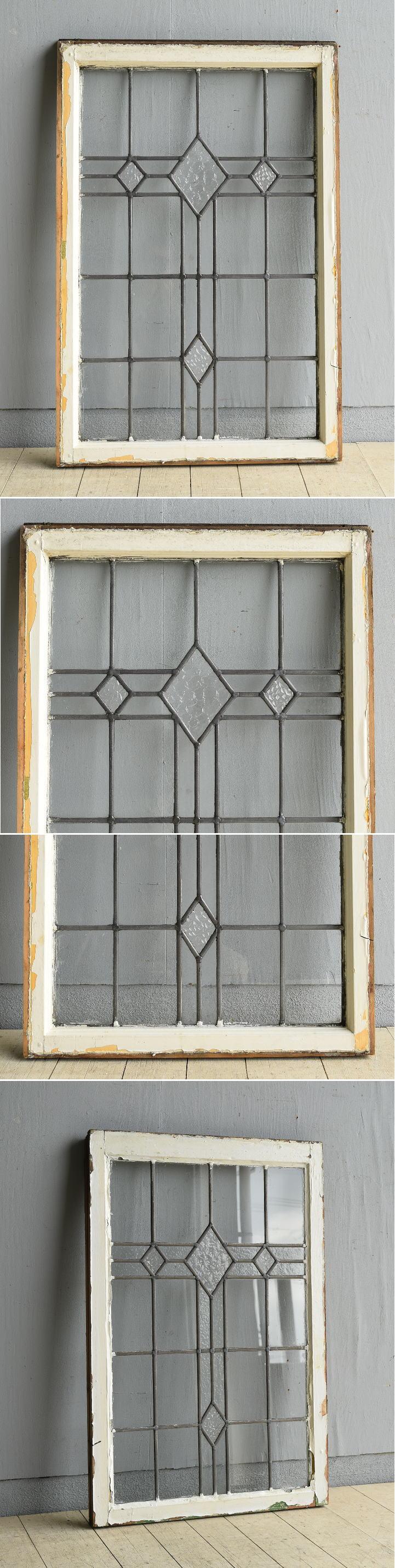 イギリス アンティーク 窓 無色透明 8014