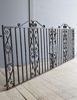 イギリス アンティーク アイアンフェンス ゲート柵 8023