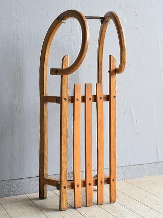 (旧)東ドイツ製 アンティーク 木製ソリ 8045