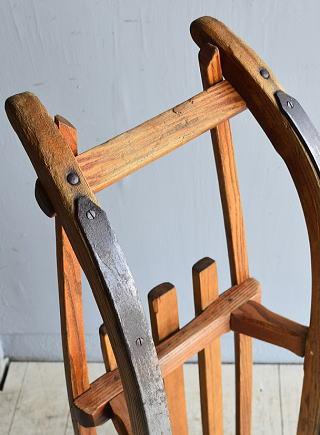 (旧)東ドイツ製 アンティーク 木製ソリ 8048