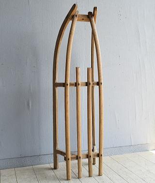 (旧)東ドイツ製 アンティーク 木製ソリ 8049