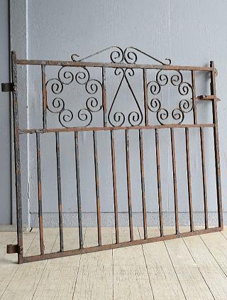イギリス アンティーク アイアンフェンス ゲート柵 9647
