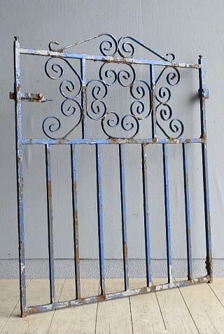 イギリス アンティーク アイアンフェンス ゲート柵 9640