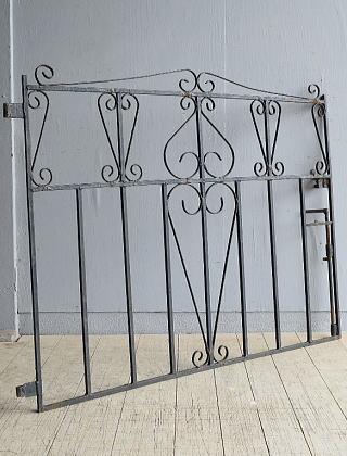 イギリス アンティーク アイアンフェンス ゲート柵 8062