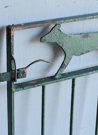 イギリス アンティーク アイアンフェンス ゲート柵 ガーデニング 8078
