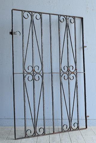 イギリス アンティーク アイアンフェンス ゲート柵 ガーデニング 8082