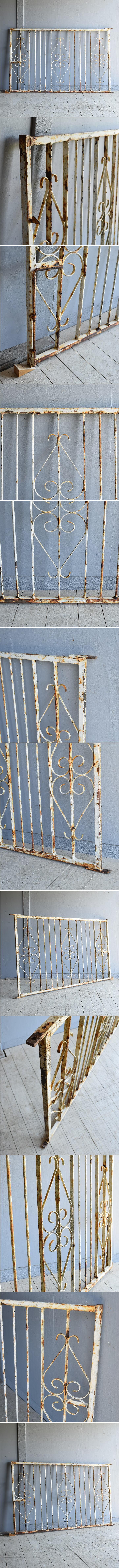 イギリス アンティーク アイアンフェンス ゲート柵 8089