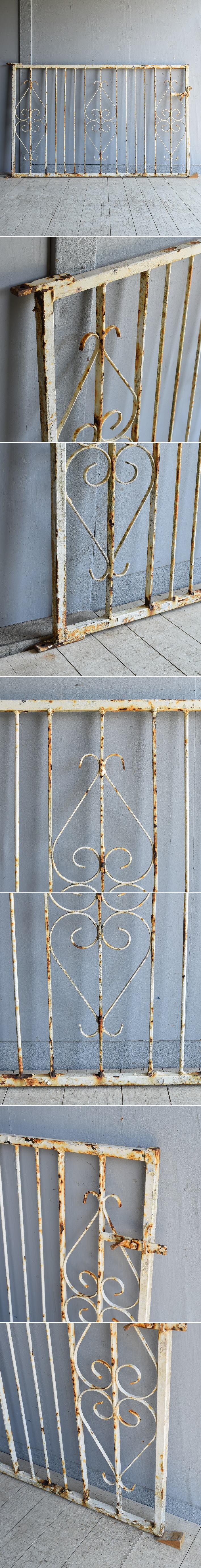 イギリス アンティーク アイアンフェンス ゲート柵 8090
