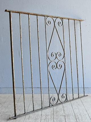 イギリス アンティーク アイアンフェンス ゲート柵 8091
