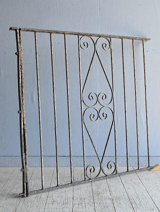 イギリス アンティーク アイアンフェンス ゲート柵 8092