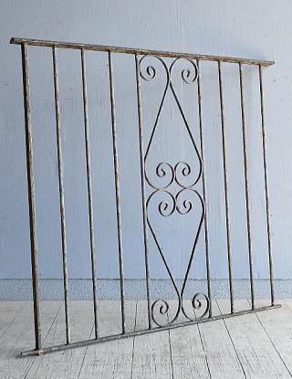 イギリス アンティーク アイアンフェンス ゲート柵 8095