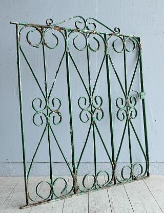 イギリス アンティーク アイアンフェンス ゲート柵 8096