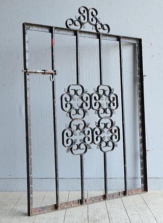 イギリス アンティーク アイアンフェンス ゲート柵 8097