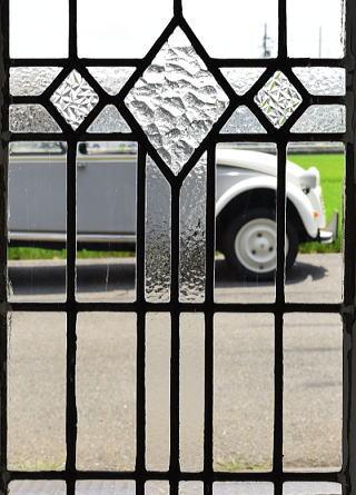 イギリス アンティーク 窓 無色透明 8098