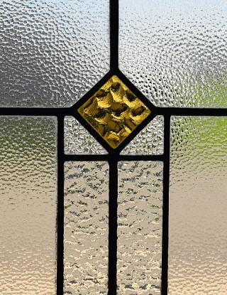 イギリス アンティーク ステンドグラス 幾何学 8165