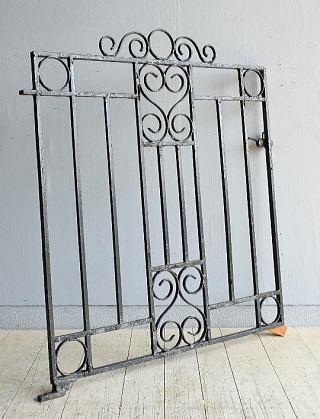 イギリス アンティーク アイアンフェンス ゲート柵 8168