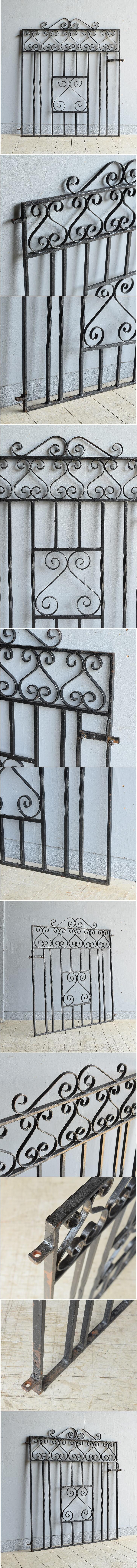 イギリス アンティーク アイアンフェンス ゲート柵 8169