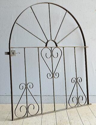 イギリス アンティーク アイアンフェンス ゲート柵 8170