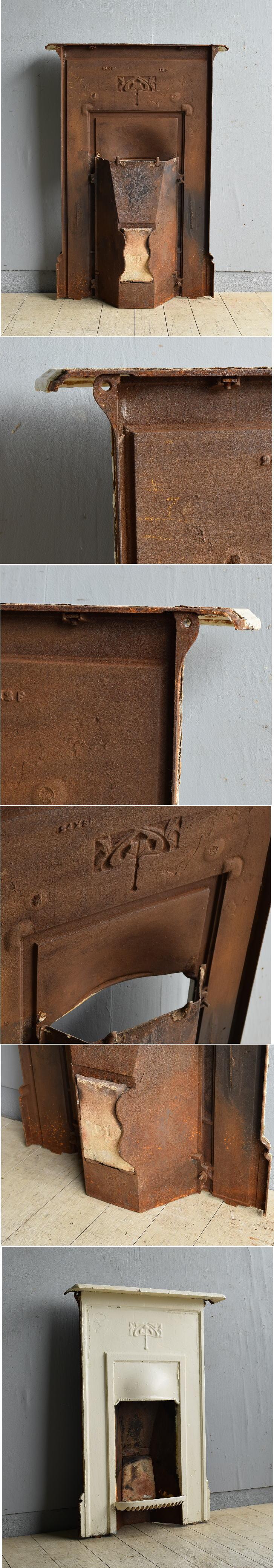 イギリス アンティーク ファイヤープレイス 暖炉 ディスプレイ 8172