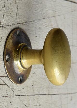 イギリス アンティーク 真鍮 ドアノブ 建具金物 握り玉 8202