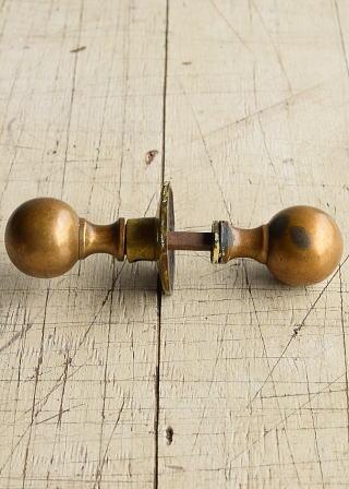 イギリス アンティーク 真鍮製 ドアノブ 建具金物 握り玉 8216