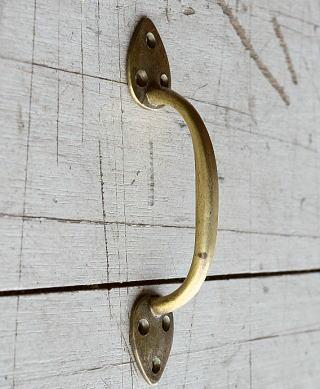 イギリス アンティーク 真鍮ハンドル 建具金物 取っ手 8223