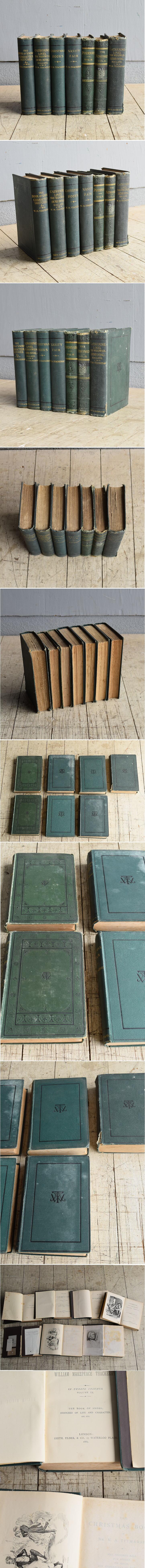 イギリス アンティーク ブック 本 洋書 7冊セット ディスプレイ 8267