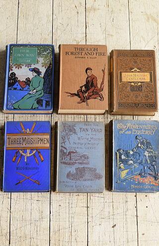 イギリス アンティーク ブック 本 洋書 6冊セット ディスプレイ 8272