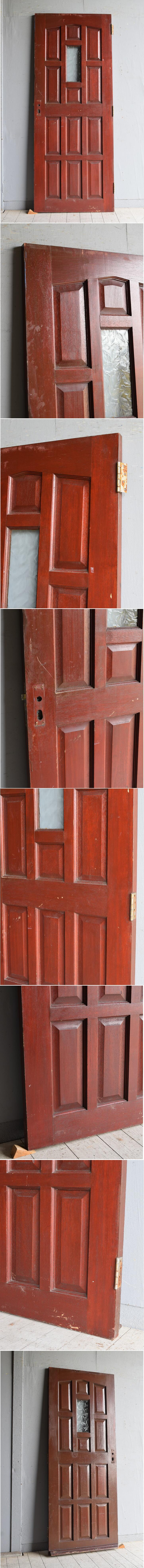 イギリス アンティーク ガラス入り木製ドア 扉 建具 8293