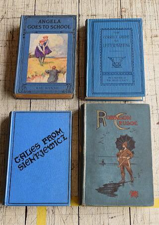 イギリス アンティーク ブック 本 洋書 4冊セット ディスプレイ 8298