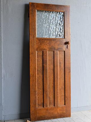 イギリス アンティーク ガラス入り木製ドア 扉 建具 8302