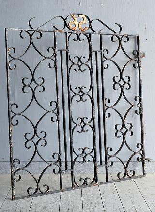 イギリス アンティーク アイアンフェンス ゲート柵 8309