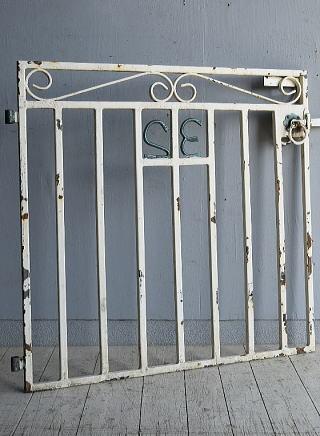 イギリス アンティーク アイアンフェンス ゲート柵 8310