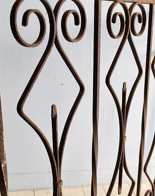 イギリス アンティーク アイアンフェンス ゲート柵 8322