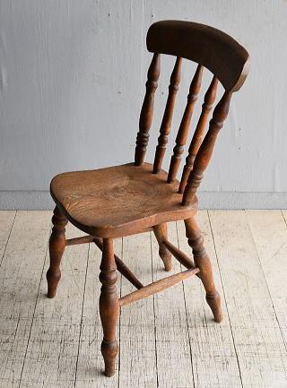 イギリス アンティーク家具 キッチンチェア 椅子 8351